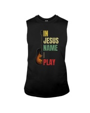 IN JESUS NAME I PLAY GUITAR Sleeveless Tee thumbnail