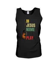 IN JESUS NAME I PLAY GUITAR Unisex Tank thumbnail