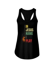 IN JESUS NAME I PLAY GUITAR Ladies Flowy Tank thumbnail