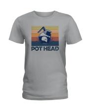 COFFEE POT HEAD Ladies T-Shirt thumbnail