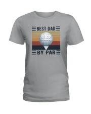 BEST GOLF DAD BY PAR Ladies T-Shirt thumbnail