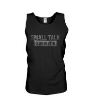 SMALL TALK SURVIVOR Unisex Tank thumbnail