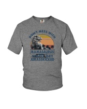 DON'T MESS WITH MAMASAAURUS Youth T-Shirt tile