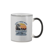 DON'T MESS WITH MAMASAAURUS Color Changing Mug tile