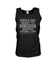 SINGLE AND READY TO GET NERVOUS Unisex Tank thumbnail