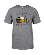THIS WITCH NEEDS BOURBON Classic T-Shirt front