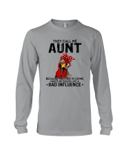 THEY CALL ME AUNT BAD INFLUENCE Long Sleeve Tee thumbnail