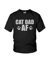CAT DAD AF Youth T-Shirt thumbnail