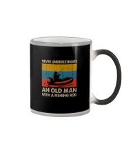 NEVER UNDERESTIMATE AN OLD MAN WITH A FISHING ROD Color Changing Mug thumbnail
