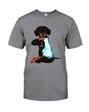 DACHSHUND I LOVE MOM Classic T-Shirt front