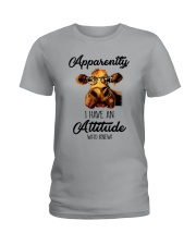 APPARENTLY I HAVE AN ATTIUDE WHO KNEW Ladies T-Shirt tile