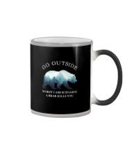 GO OUTSIDE WORST CASE SCENARIO A BEAR KILLS YOU Color Changing Mug thumbnail