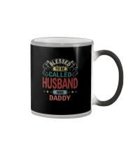 BLESSED TO BE CALLED HUSBAND AND DADDY VT Color Changing Mug tile