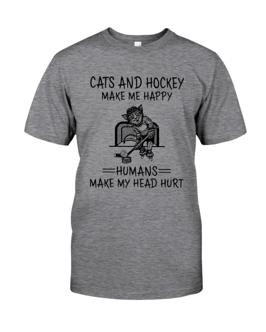 CATS AND HOCKEY MAKE ME HAPPY Classic T-Shirt