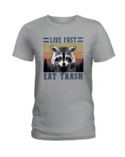 LIVE FAST EAT TRASHz Ladies T-Shirt thumbnail