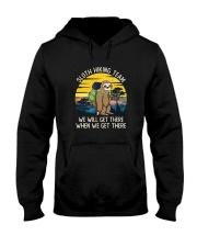 SLOTH HIKING TEAM VINTAGE FUNNY HIKING Hooded Sweatshirt thumbnail