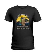 SLOTH HIKING TEAM VINTAGE FUNNY HIKING Ladies T-Shirt thumbnail