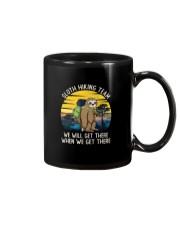 SLOTH HIKING TEAM VINTAGE FUNNY HIKING Mug thumbnail