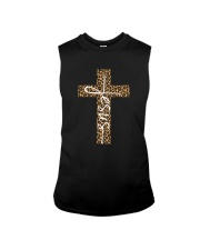 JESUS LEOPARD CROSS Sleeveless Tee thumbnail