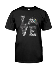 LOVE GAME CONTROLLER Classic T-Shirt front