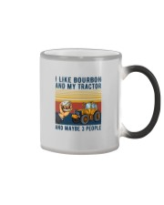 I LIKE BOURBON AND MY TRACTOR AND MAYBE 3 PEOPLE Color Changing Mug thumbnail