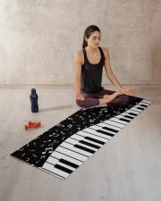 PIANO MUSIC NOTES Yoga Mat 70x24 (horizontal) aos-yoga-mat-lifestyle-18