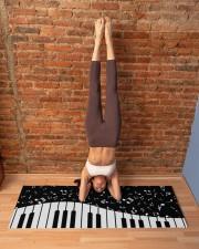PIANO MUSIC NOTES Yoga Mat 70x24 (horizontal) aos-yoga-mat-lifestyle-20