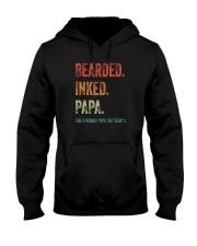 BEARDED INKED PAPA Hooded Sweatshirt thumbnail