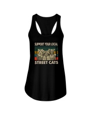 VINTAGE SUPPORT YOUR LOCAL STREET CATS Ladies Flowy Tank thumbnail