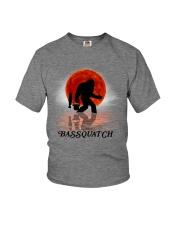 BASSQUATCH FISHING BIGFOOT Youth T-Shirt thumbnail