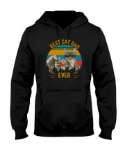 BEST CAT DAD EVER VINTAGE Hooded Sweatshirt thumbnail