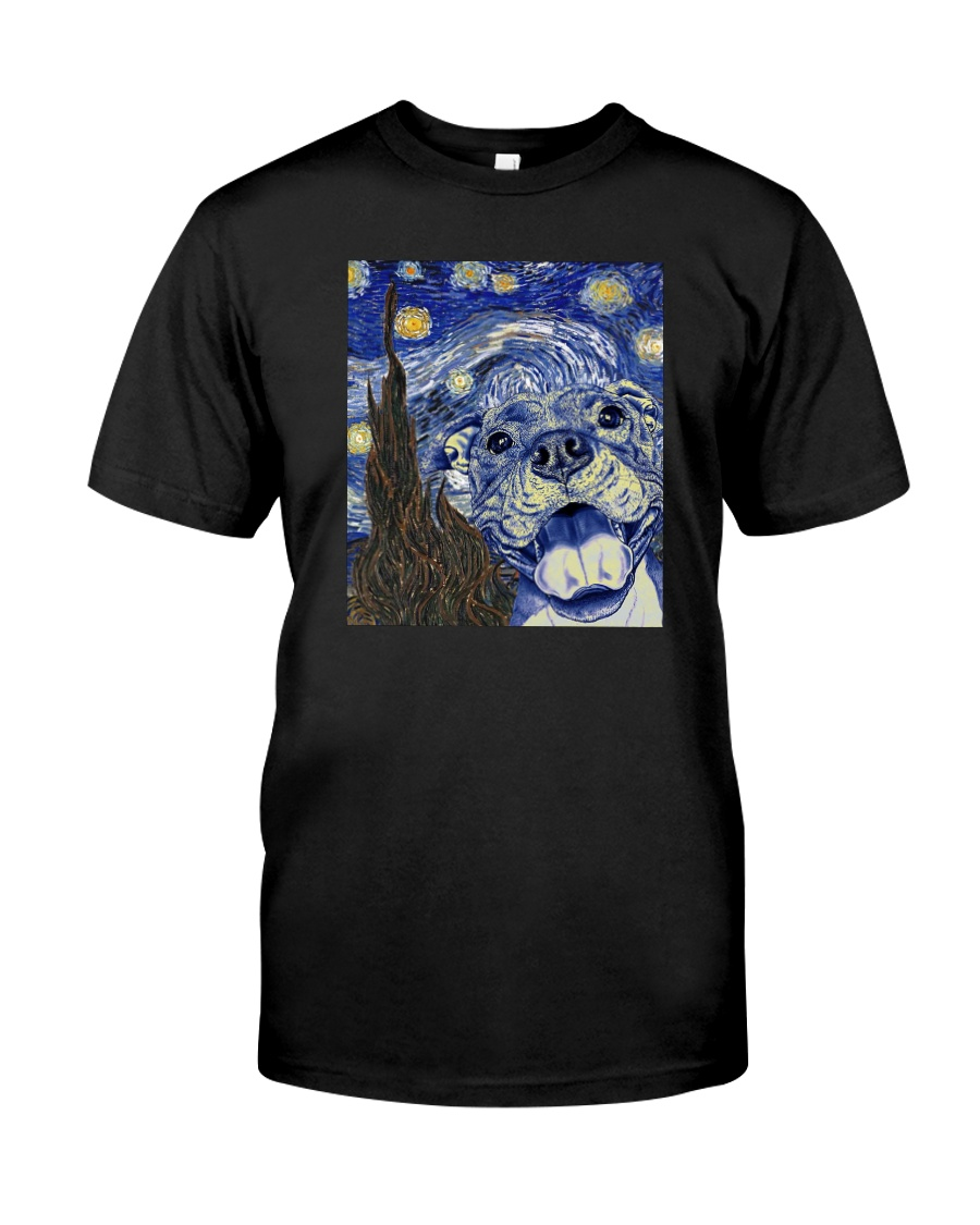 STARRY NIGHT PITBULL Classic T-Shirt