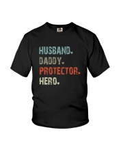 HUSBAND DADDY PROTECTOR HERO Youth T-Shirt thumbnail