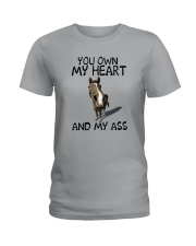 YOU OWN MY HEART AND MY ASS 1 Ladies T-Shirt thumbnail