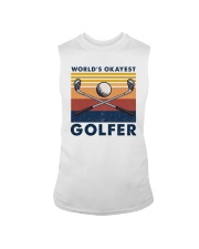 WORLD'S OKAYEST GOLFER VINTAGE Sleeveless Tee thumbnail