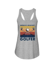 WORLD'S OKAYEST GOLFER VINTAGE Ladies Flowy Tank thumbnail