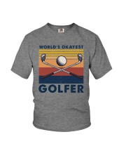WORLD'S OKAYEST GOLFER VINTAGE Youth T-Shirt thumbnail