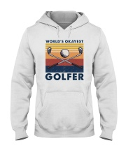 WORLD'S OKAYEST GOLFER VINTAGE Hooded Sweatshirt thumbnail