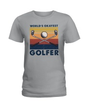 WORLD'S OKAYEST GOLFER VINTAGE Ladies T-Shirt thumbnail