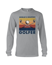 WORLD'S OKAYEST GOLFER VINTAGE Long Sleeve Tee thumbnail