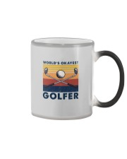 WORLD'S OKAYEST GOLFER VINTAGE Color Changing Mug thumbnail