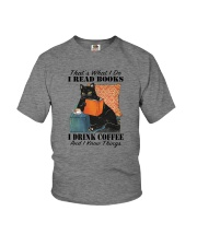 I READ BOOKS I DRINK COFFEE AND I KNOW THINGS Youth T-Shirt tile