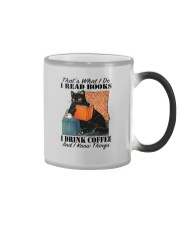 I READ BOOKS I DRINK COFFEE AND I KNOW THINGS Color Changing Mug tile