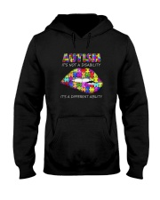 AUTISM IT'S A DIFFERENT ABILITY LIP Hooded Sweatshirt thumbnail