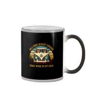 On a dark desert highway cool wind in my hair Color Changing Mug thumbnail