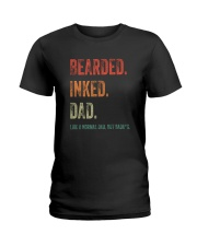 DISCOUNT BEARDED INKED DAD Ladies T-Shirt thumbnail