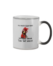 YOUR CRAZY IS SHOWING CHICKEN Color Changing Mug thumbnail