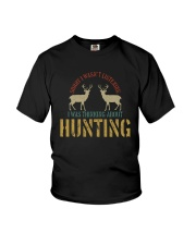I WAS THINKING ABOUT HUNTING Youth T-Shirt thumbnail