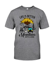 LIFE IS BETTER IN THE MOUNTAINS WITH A DOG Classic T-Shirt front