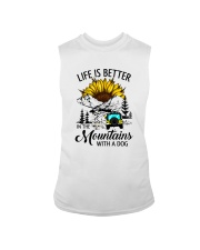 LIFE IS BETTER IN THE MOUNTAINS WITH A DOG Sleeveless Tee thumbnail